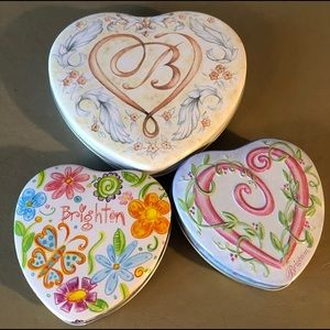 Brighton Brand Heart Shaped Gift Tins (3)